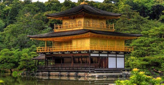 Кинкаку Дзи достопримечательность Японии