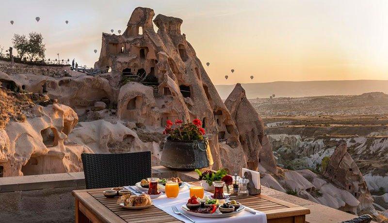 Лучшие отели Каппадокии с видом на воздушные шары Argos