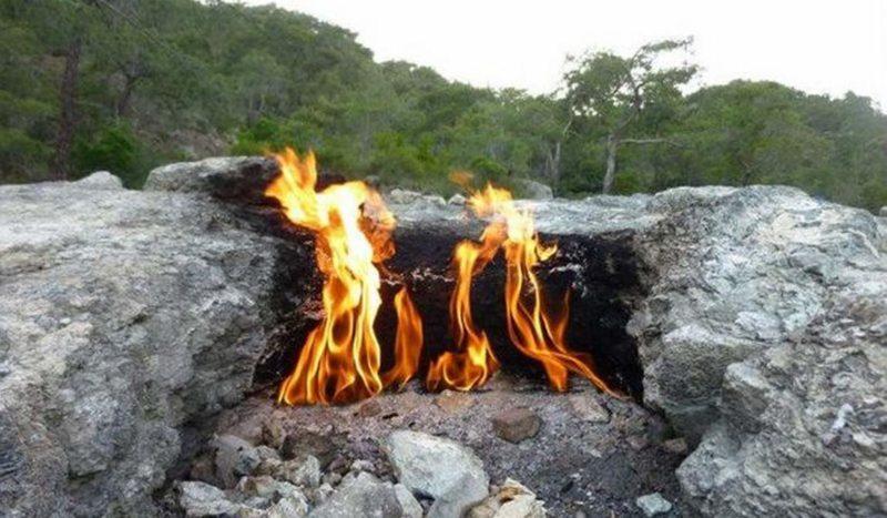 Гора Янарташ — горящая гора достопримечательность в Кемере
