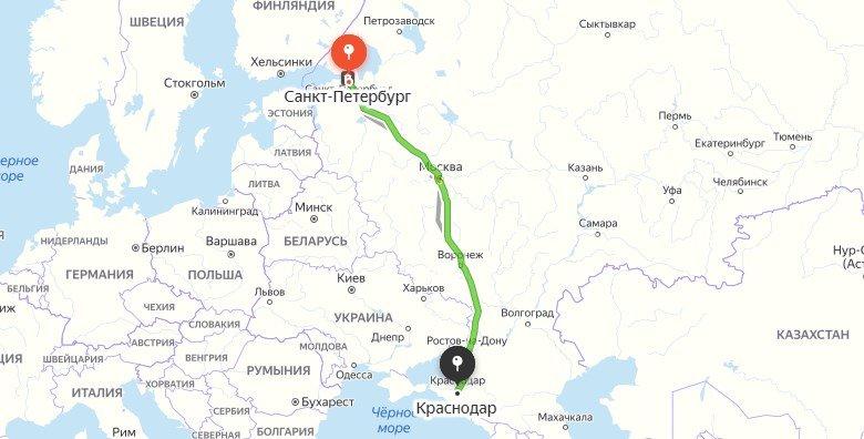 В Крым на машине из Санкт-Петербурга