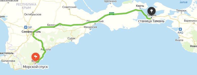 Дорога Крым - Санкт-Петербург на машине