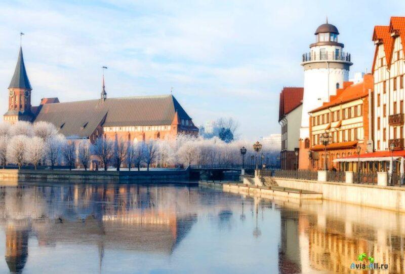 Погода в Калининграде зимой, весной и осенью