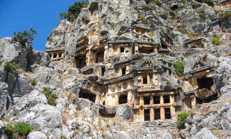 Ликийские гробницы в Фетхие