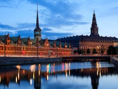 Дворец Христиансборг в Копенгагене